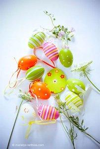 décoration décoration de pâques, oeufs multicolors