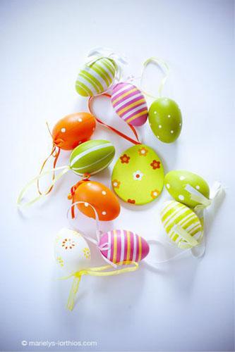 décoration de pâques, oeufs