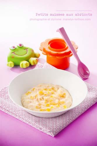 recettes pour bébé, petit suisse abricots