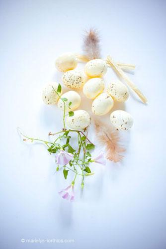 décoration de pâques, oeufs naturels