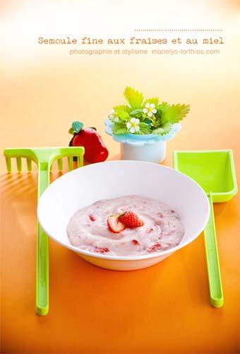 recettes pour bébé, semoule fine à la fraises