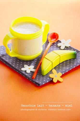 recettes pour bébé, smoothie banane miel