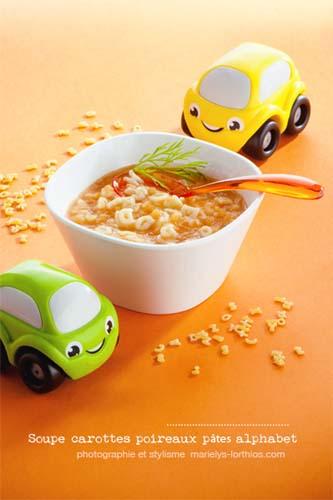 recettes pour bébé, soupe alphabet bébé