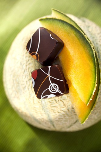 chocolats gourmands au melon