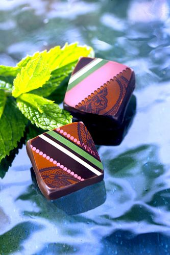 chocolats gourmands à la menthe