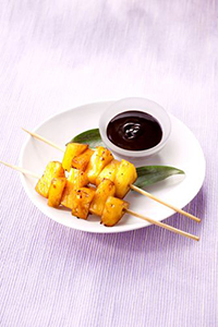 Nutricook, brochette d'ananas et chocolat-m