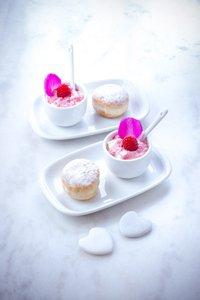 recette st Valentin beignets framboise