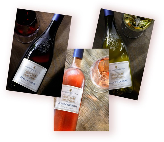 Bouchard, rouge, blanc, rose