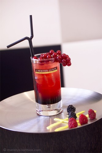 Héritier Guyot cocktail cassis bitter lemon