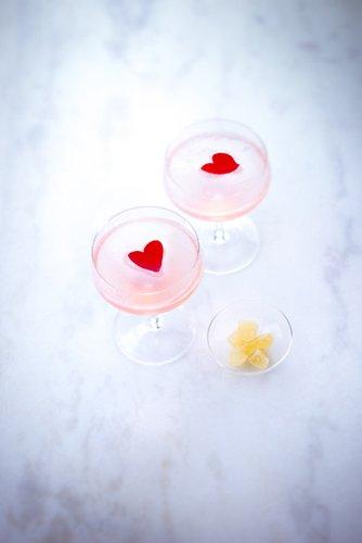 recette st Valentin, cocktail rose