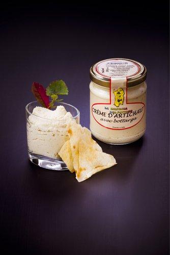 saveurs de sardaigne, crème artichauts bottarga