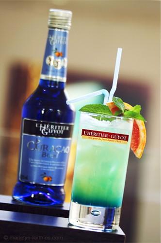 Héritier Guyot cocktail curaçao bleu
