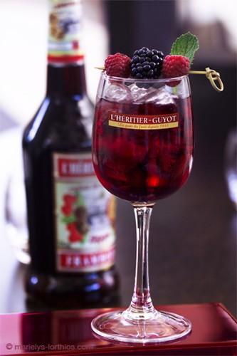 Héritier Guyot cocktail framboise cassis