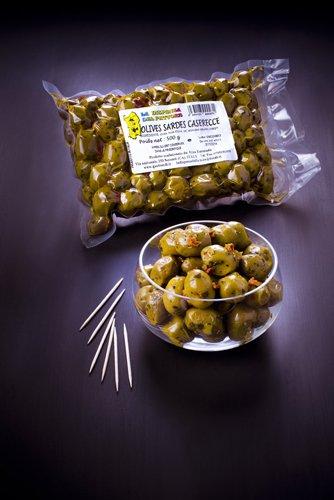 saveurs de sardaigne, olives vertes