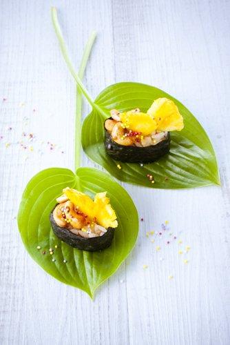 photographie professionnelle, sushi crevettes