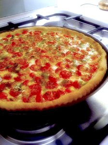 photo i-phone, tarte tomates cerises cuite