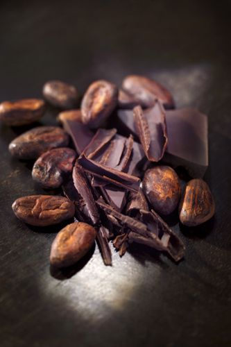 arômes de chocolat, fèves de cacao