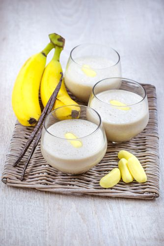 recette soupes faciles, smoothie banane vanille