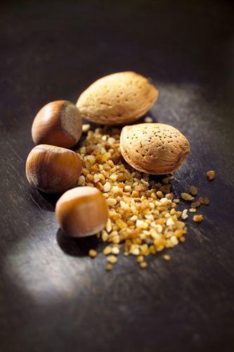 arômes de chocolat, praliné amandes noisettes