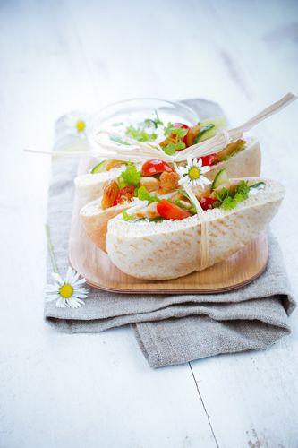 pita tomate concombre