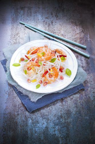 salade été rice noodles asiatique