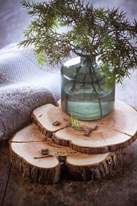 bois de cade rondelle et branches