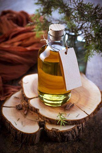 huiles bois de cade avec etiquette