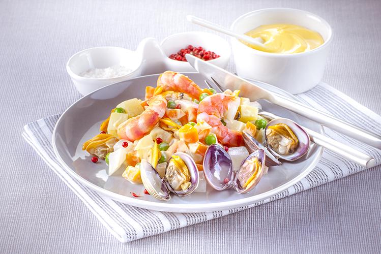 macedoine-de-legumes-crevettes-et-palourdes-vapeur