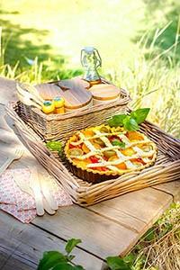 Le-picnic-recette-tarte aux tomates cerises- pour le picnic pique nique avec le robot Companion de Moulinex