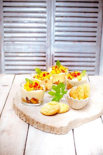 recettes prêtes en avance mousse de pêche biscuits amande Companion de Moulinex make ahead recipes
