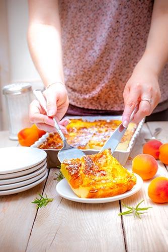 recettes prêtes en avance clafoutis aux abricots Companion de Moulinex make ahead recipes