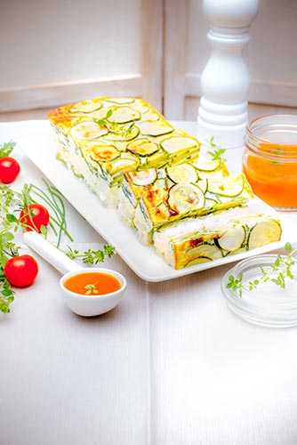 recettes prêtes en avance flan de courgette Companion de Moulinex make ahead recipes