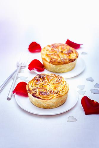 recette festive tourtes individuelles saumon épinards et graines de sésame companion moulinex valentine's day recipes