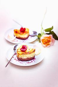recette festive cheesecake spéculos coeurs à la rose et aux framboises valentine's day recipes miniature