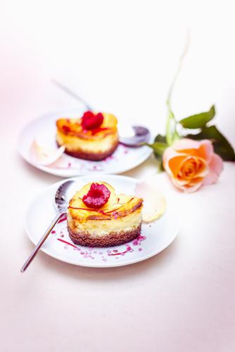 recette festive cheesecake spéculos coeurs à la rose et aux framboises valentine's day recipes