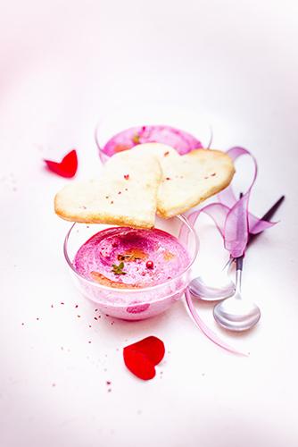 recette festives crème de betterave coeurs crackers aux amandes valentine's day recipes