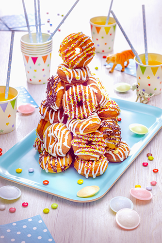 birthday cake donuts glaçage au sucre snack collection tefal