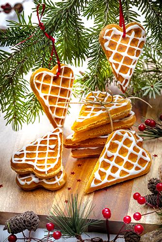 gaufres coeur pour Noël épices et miel snack collection tefal