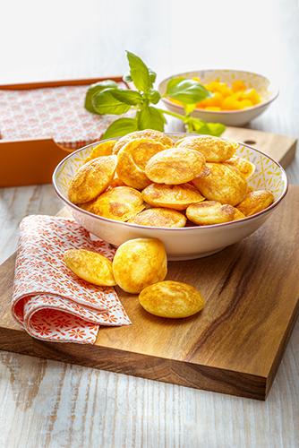 gougères mimolette mini gaufres mimolette pour apéritif maison snack collection tefal