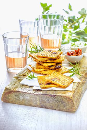 biscuits apéritif maison crackers romarin tomates séchées snack collection tefal