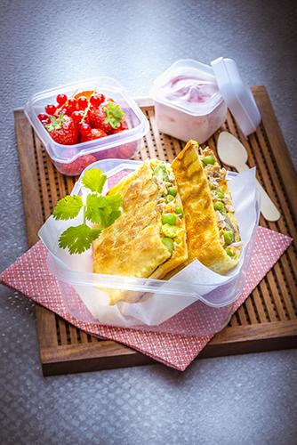 feuilleté grillé au gaufrier thon et petits légumes lunch gourmand snack collection tefal