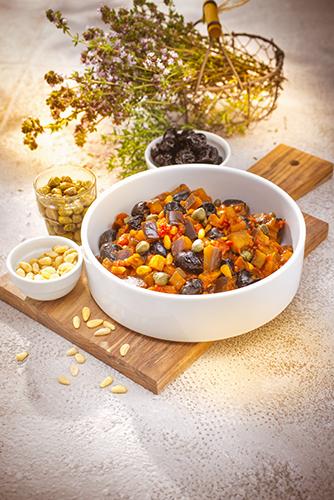 recette italienne caponata à l'italienne companion moulinex italian food