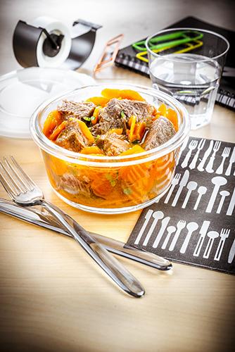 déjeuner au travail recette boeuf carotte à réchauffer companion moulinex lunch box
