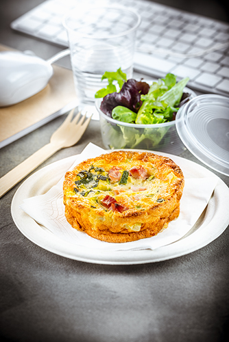 déjeuner au travail recette quiche sans pâte jambon et courgettes companion moulinex lunch box