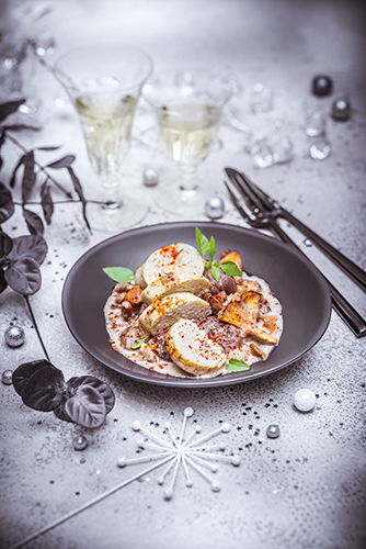 noel chic recettes boudin blanc maison mijote chataignes girolles christmas recipes Companion moulinex