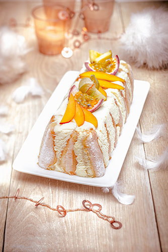 noel chic recettes buche facon tiramisu fruits exotiques christmas recipes Companion moulinex
