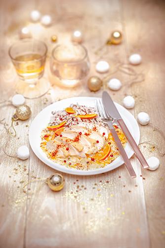 noel chic recettes poularde clementines et riz sauvage christmas recipes Companion moulinex