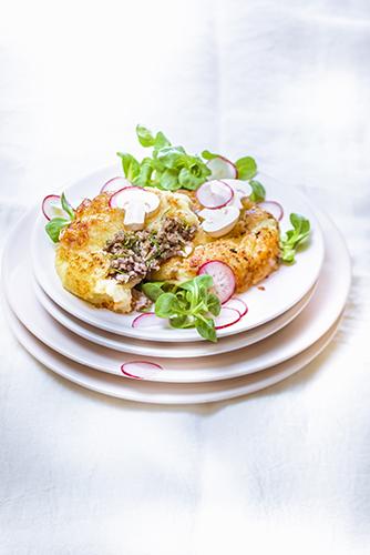 Galettes de pomme de terre aux champignons-photographie-culinaire