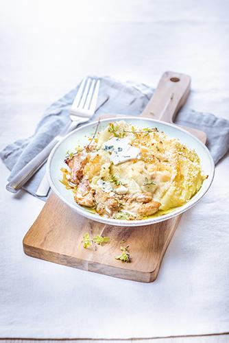 Parmentier de porc au roquefort-photographie-culinaire