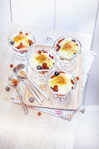 recettes en famille, gratin de fruits rouges au lait